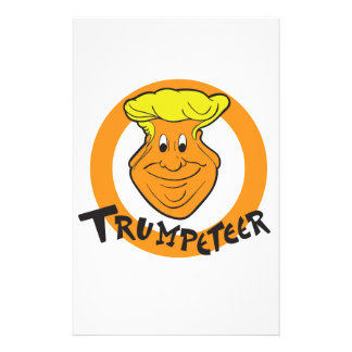 Donald Trumpeteer Caricature Stationery