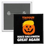 Donald Trumpkin Make Halloween Great Again 2 Inch Square Button