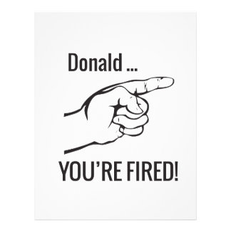 Donald ... You're Fired! Letterhead Template