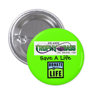 Donate Life - They Saved Mine 1 Inch Round Button