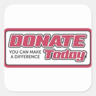 donate square sticker