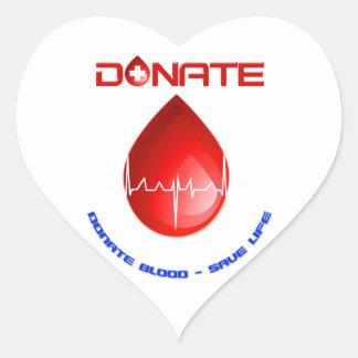 Donate Heart Stickers
