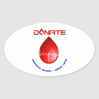 Donate Oval Stickers