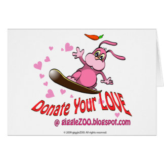 Donate Your Love with Valentine Bunnie Card