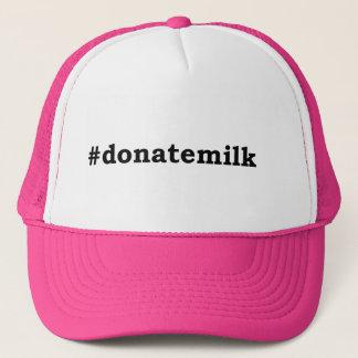 #donatemilk trucker hat