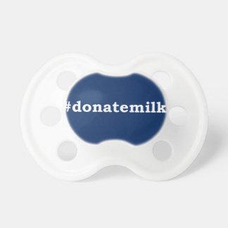 #donatemilk with white writing pacifier