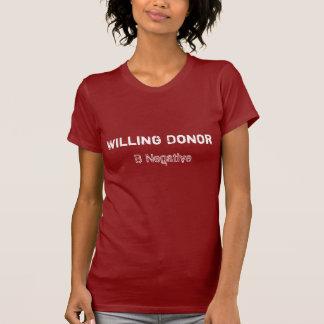 Donateur disposé b tee-shirt