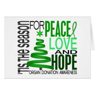 Donation d organe de vacances de Noël d espoir d a Cartes