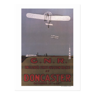 Doncaster, England - First Aviation Races Postcard