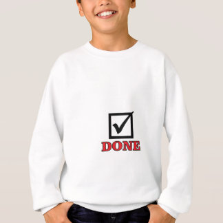 done check mark sweatshirt