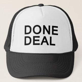 DONE DEAL bold fun slogan trucker hat