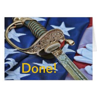 Done Military Graduate Greeting Card