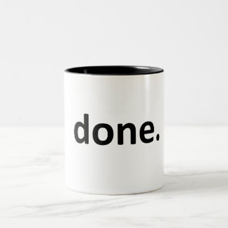 done. Two-Tone coffee mug