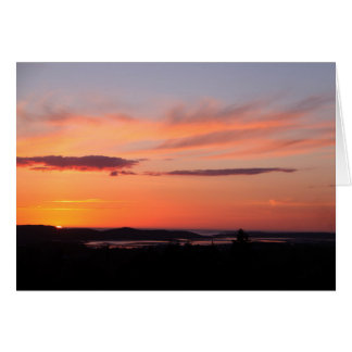 Donegal sunset card
