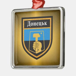 Donetsk Flag Metal Ornament