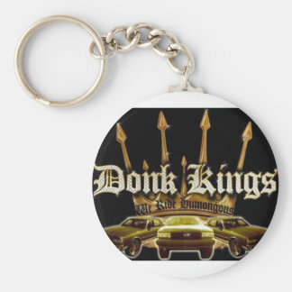 donk kings car logo keychain