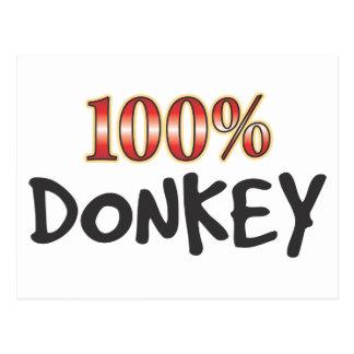 Donkey 100 Percent Postcard