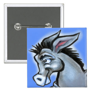 Donkey 2 Inch Square Button