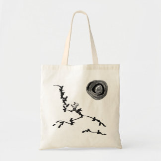 donkey and abstract moon tote bag
