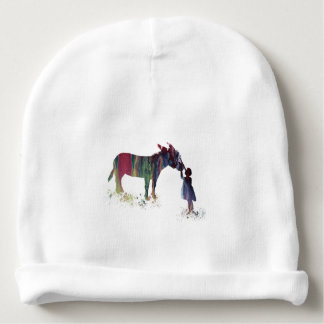Donkey and child baby beanie