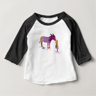 Donkey and child baby T-Shirt