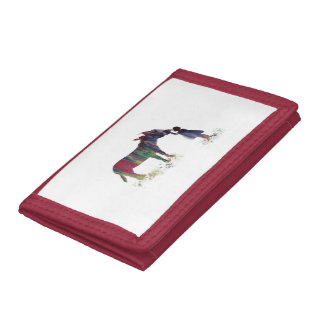 Donkey and child tri-fold wallets