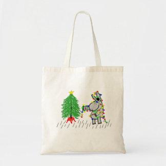 Donkey and Christmas tree