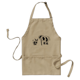 donkey and elephant friends standard apron