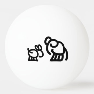 donkey and elephant ping pong ball