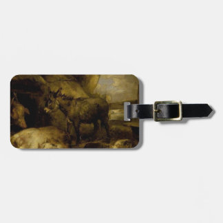 Donkey and Pigs by George Morland Bag Tag