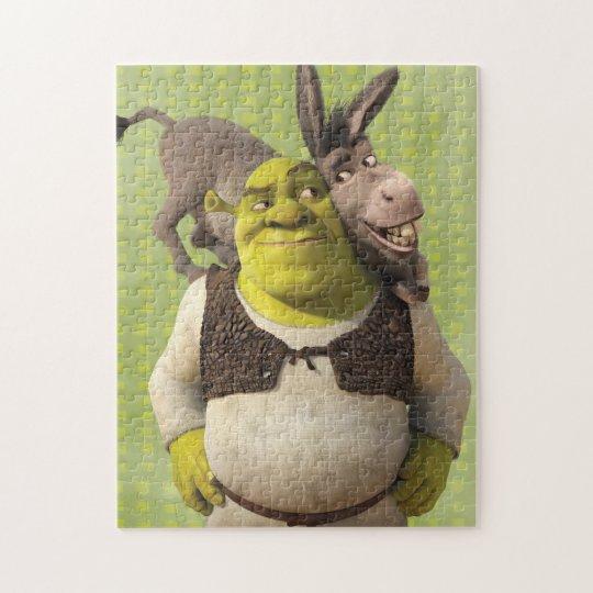 Donkey And Shrek Jigsaw Puzzle