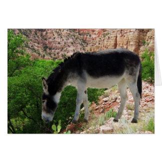 Donkey Animal Spirit Friend - Blank Card