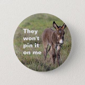Donkey badge 2 inch round button