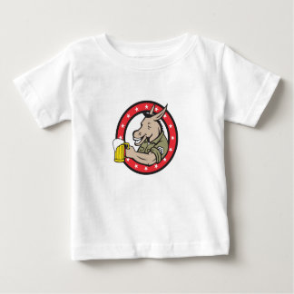 Donkey Beer Drinker Circle Retro Baby T-Shirt