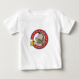 Donkey Beer Drinker Circle Retro Baby T-Shirt