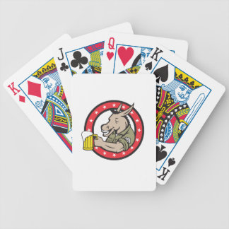 Donkey Beer Drinker Circle Retro Bicycle Playing Cards