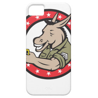 Donkey Beer Drinker Circle Retro iPhone 5 Cases