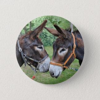 Donkey best friends 2 inch round button