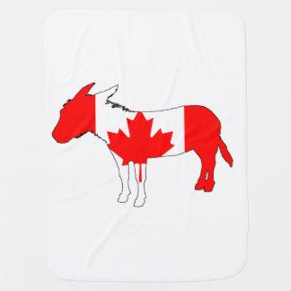 Donkey Canada Baby Blanket