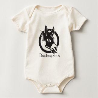 Donkey club baby bodysuit