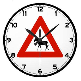 Donkey Crossing (1), Sign, Netherlands Antilles Wallclock