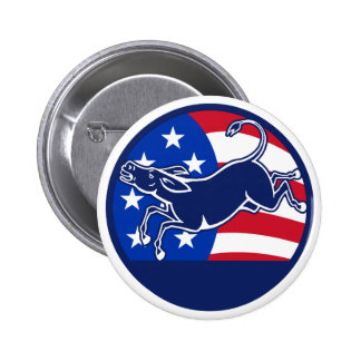Donkey Democrat Flag Pin