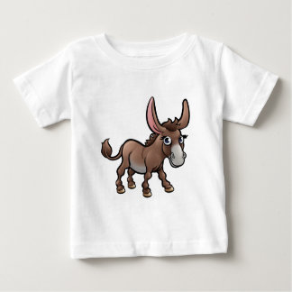 Donkey Farm Animals Cartoon Character Baby T-Shirt