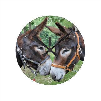 Donkey friends wallclocks