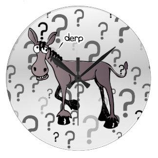 Donkey interrogation derp wall clocks