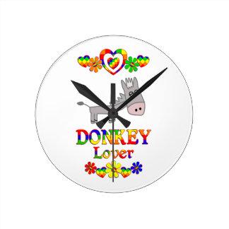 Donkey Lover Wallclock