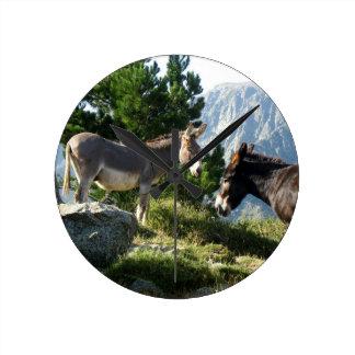 Donkey of Corsica Wallclock