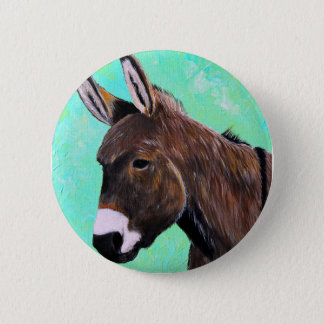 Donkey Painting 2 Inch Round Button