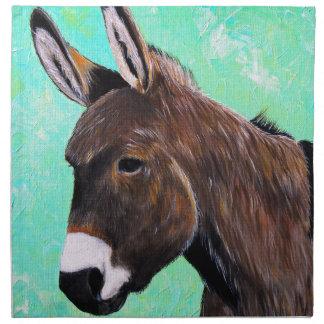 Donkey Painting Napkin