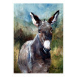 Donkey Portrait ArtCard Pack Of Chubby Business Cards